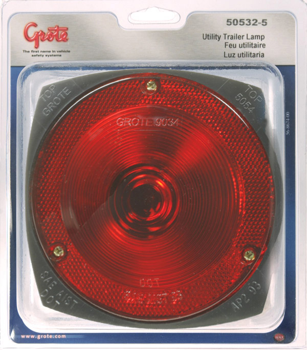 50532-5 – Trailer Lighting Kit with Sidemarker Light, LH Replacement w/ License Window, Red, Retail Pack