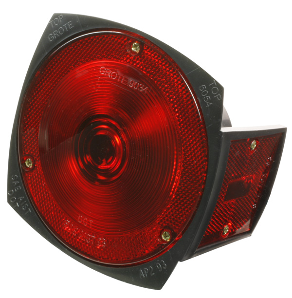 Grote Industries - 50542 – Trailer Lighting Kit with Side Marker Light, RH Stop Tail Turn Light Replacement, Red