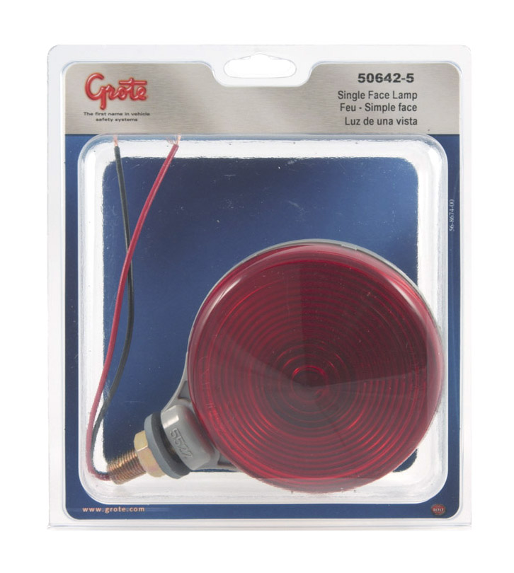 Grote Industries - 50642-5 – Single-Face Light, Double Contact, Red, Retail Pack
