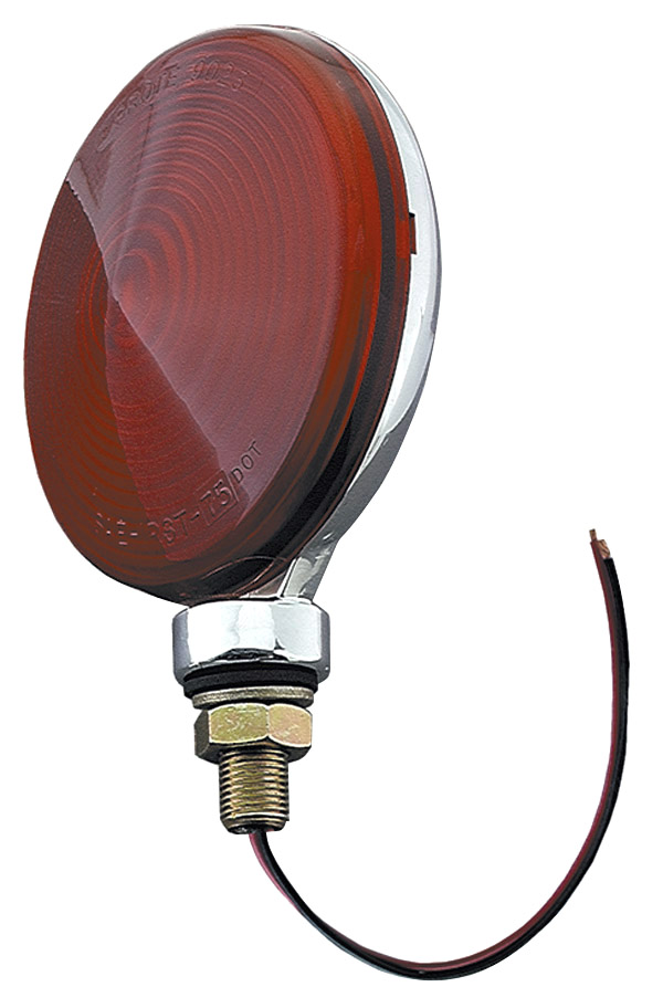 50652 – Thin-Line Die-Cast Single-Face Lamp, Red, Chrome Finish