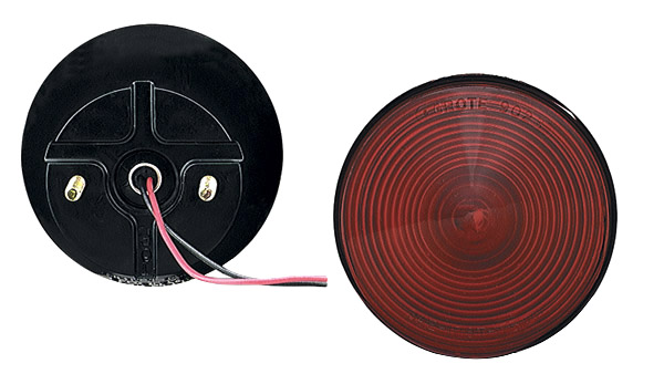 50862 – 4″ Two-Stud Stop/Tail/Turn Lamp, w/out License Window, Red