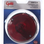4 universal mount stop tail turn light license window red retail pack