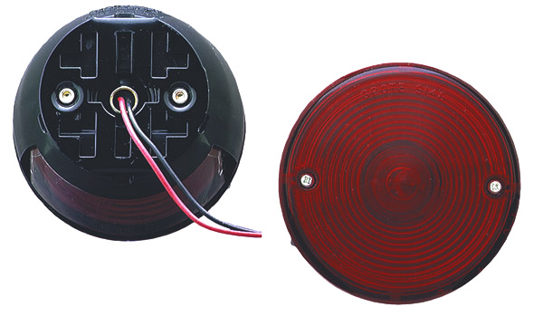 50872 – 4″ Universal Mount Stop Tail Turn Light, w/ License Window, Red