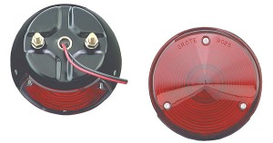 "4"" Steel Two-Stud Mount Stop Tail Turn Lights"