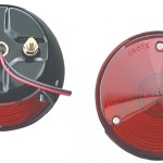 4 steel two stud mount stop tail turn light red
