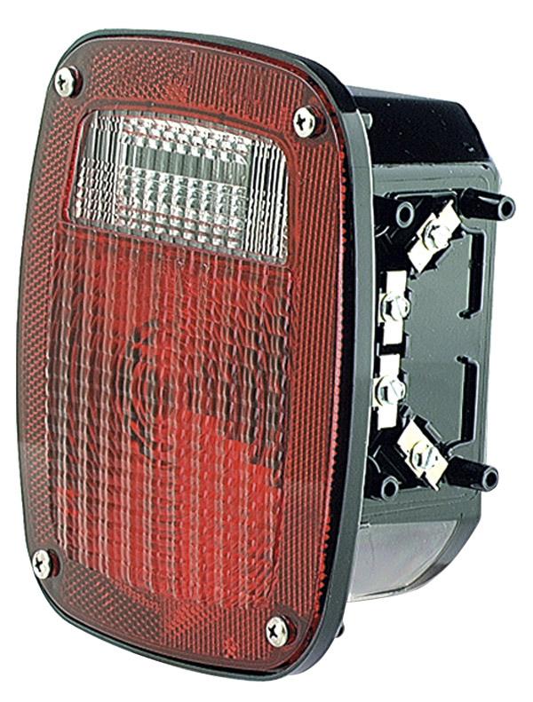 50902 – Torsion Mount® Three-Stud GMC® Stop/Tail/Turn Lamp, RH w/ License Window, Red
