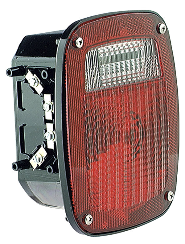 50912 – Torsion Mount® Three-Stud GMC® Stop Tail Turn Light, LH w/ License Window, Red