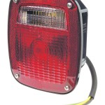 supernova three stud led stop tail turn light license window red