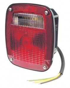 50920 – Supernova® Three-Stud LED Stop Tail Turn Light, w/ License Window, Red