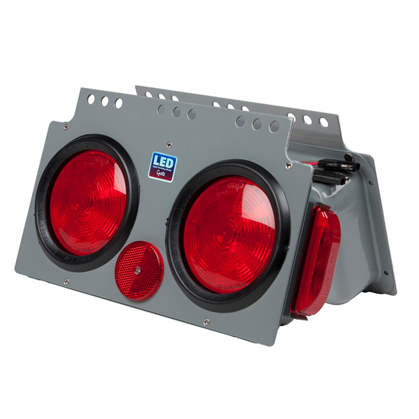 51002 – LED Stop Tail Turn Power Module with Side Marker, Male Pin, RH, Red