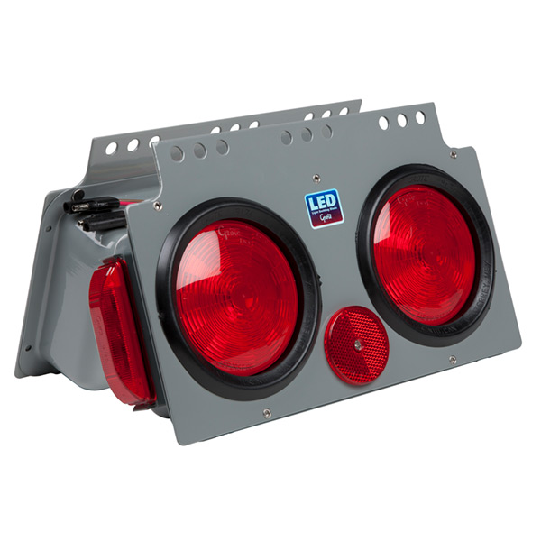 51012 – LED Stop Tail Turn Power Module with Side Marker, Male Pin, LH, Red