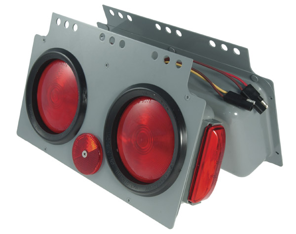 51022 – Stop Tail Turn 4″ Light Power Module with Side Marker, RH, Red