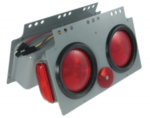 51032 – Stop Tail Turn 4″ Light Power Module with Side Marker, LH, Red