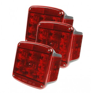 51962-3 – LED Submersible Trailer Lighting Kit, RH Stop Tail Turn Replacement, Red, Bulk Pack