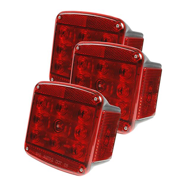 51962-3 – LED Submersible Trailer Lighting Kit, RH Stop Tail Turn Replacement, Red, Bulk Pack