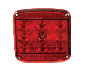 51972 – LED Stop Tail Turn Replacement Light w/ License Window for Submersible Trailer Lighting Kit, LH, Red