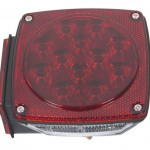 submersible led trailer lighting kit lh stop tail turn replacement red
