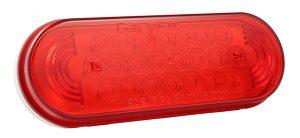 52072 – SuperNova® Oval LED Stop Tail Turn Light, Grommet Mount 24V, Red