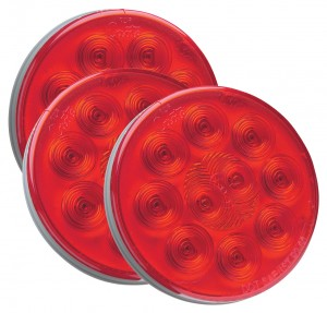 52092-3 – SuperNova® 4″ 10-Diode Pattern LED Stop Tail Turn Light, Grommet Mount 24V, Red, Bulk Pack