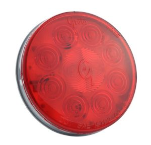 52092 – SuperNova® 4″ 10-Diode Pattern LED Stop Tail Turn Light, Grommet Mount 24V, Red