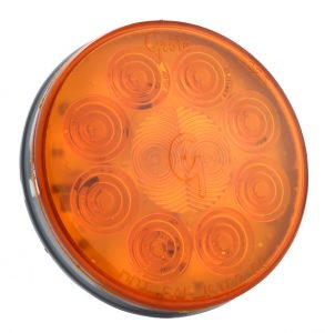 52093 – SuperNova® 4″ 10-Diode Pattern LED Stop Tail Turn Light, Grommet Mount 24V, Auxiliary Turn, Yellow