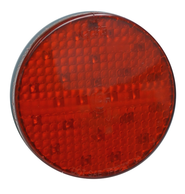 Grote Industries - 52162 – SuperNova® 4″ Full-Pattern LED Stop Tail Turn Light, Grommet Mount, Male Pin, 24V, Red