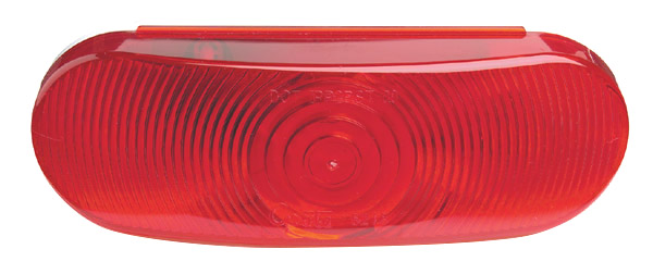 Grote Industries - 52182 – Economy Oval Stop Tail Turn Light, Red