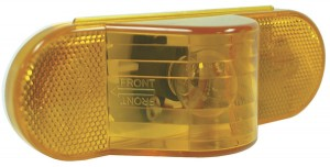 52193 – Economy Oval Side Turn Marker Light, Yellow