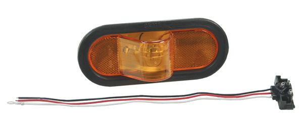 52253 – Economy Oval Side Turn Marker Light, Yellow Kit (52193 + 92420 + 67090)