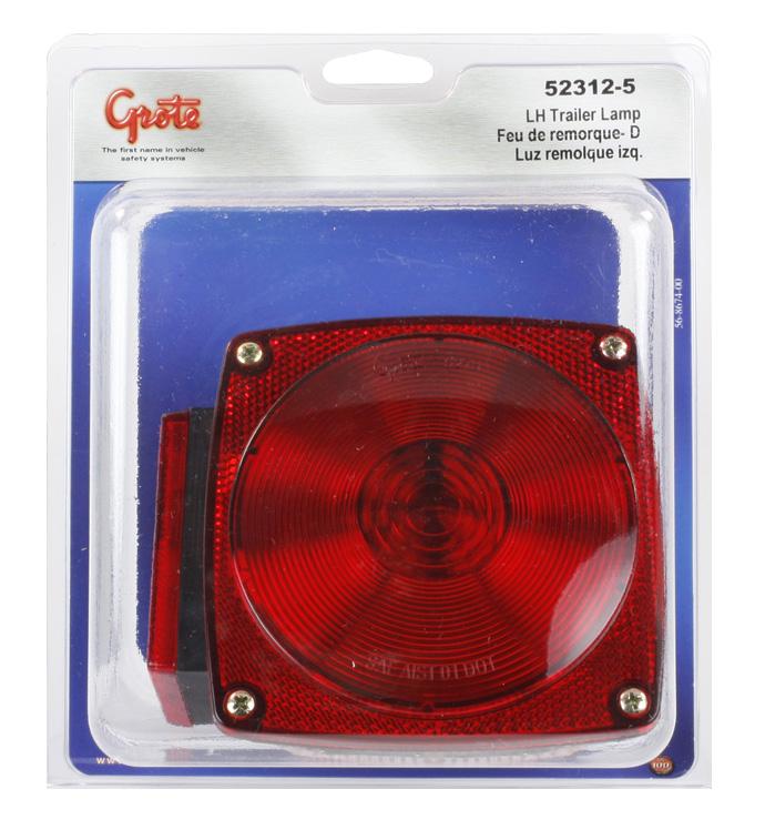 52312-5 – Trailer Lighting Kit, LH Stop Tail Turn Replacement, Red, Retail Pack