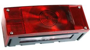 52492 – Submersible Low-Profile Trailer Lighting Kit, LH Stop Tail Turn, w/ License Window, Red
