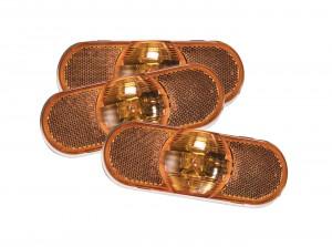 52513-3 – Torsion Mount® III Oval Side Turn Marker Light, Female Pin, Yellow, Bulk Pack