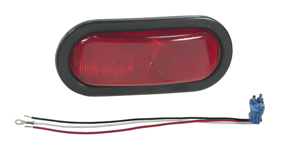 52572 – Torsion Mount® III Oval Stop Tail Turn Light, Female Pin, Red Kit (52892 + 92420 + 67000)