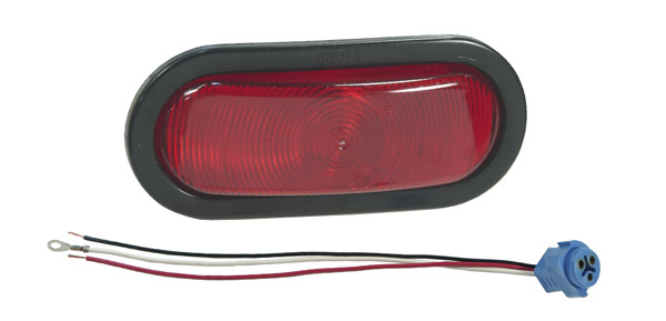 Grote Industries - 52582 – Oval Torsion Mount® III Stop/Tail/Turn Lamp, Red, Male-Pin (52562 + 92420 + 67002)