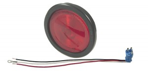 52682 – Torsion Mount® II 4″ Stop Tail Turn Light, Built-in Reflector, Female Pin, Red (52672 + 91740 + 67000)