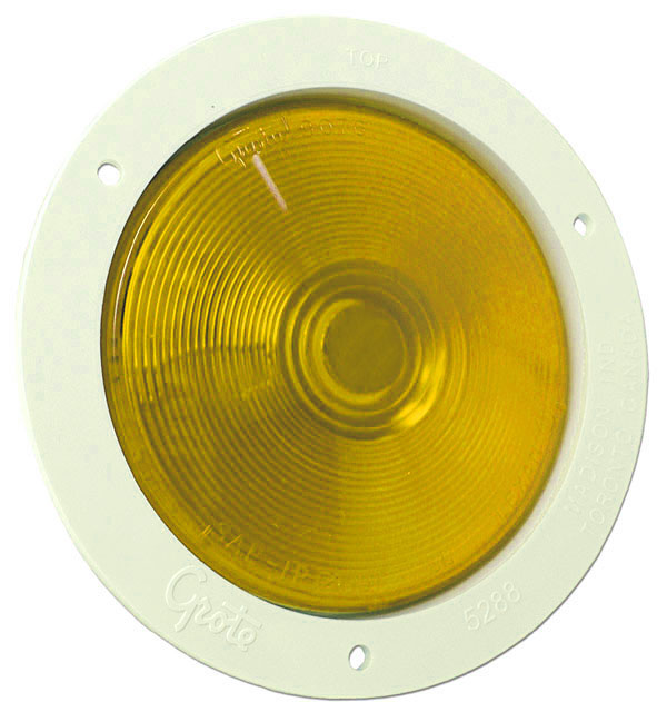 52693 – 4″ Economy Stop/Tail/Turn Lamp, Yellow w/ White, Theft-Resistant Flange
