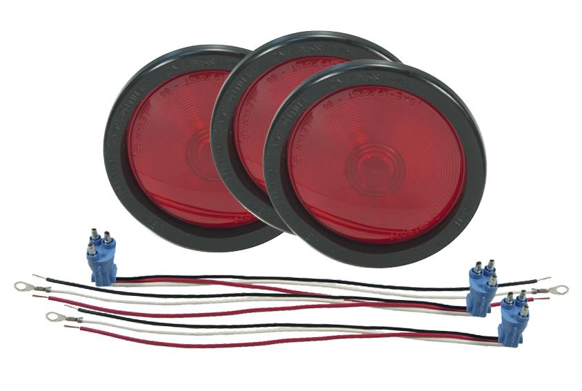 52782-3 – Torsion Mount® II 4″ Stop Tail Turn Light, Female Pin, Red Kit (52772 + 91740 + 67000), Bulk Pack