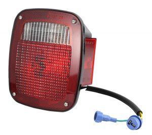 Three-Stud, Chevrolet® Ford® Jeep Stop Tail Turn Light w/ Side Marker & Molded Pigtail Termination