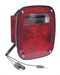 52832 – Torsion Mount® Two-Stud Stop Tail Turn Light w/ Side Marker & Molded Pigtail Termination, LH, Red