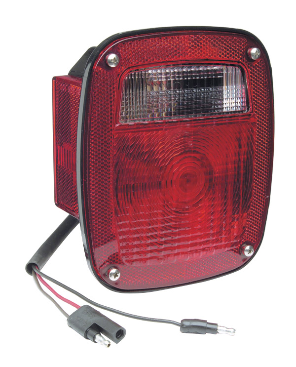 52832 – Torsion Mount™ Two-Stud Stop/Tail/Turn Lamp with Side Marker Lamp And Molded Pigtail Termination, Red, LH