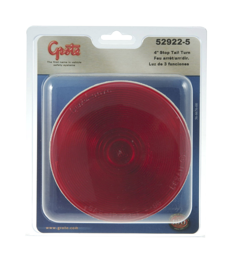 52922-5 – 4″ Economy Stop/Tail/Turn Lamp, Red, Retail Pack