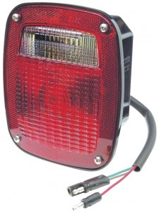 Two-Stud Ford® Stop Tail Turn Light w/ Pigtail & Molded Plug