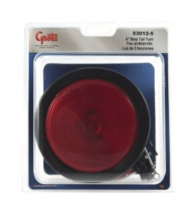 53012-5 – 4″ Economy Stop Tail Turn Light, Red Kit (52922 + 91740 + 67090), Retail Pack