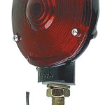 4 zinc single face light double contact black finish red