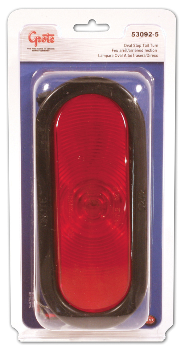 53092-5 – Economy Oval Stop/Tail/Turn Lamp, Red Kit (52182 + 92420 + 67090), Retail Pack