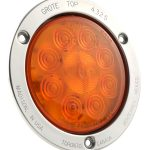 Yellow LED Stop Tail Turn Light With Stainless Steel Theft Resistant Flange.