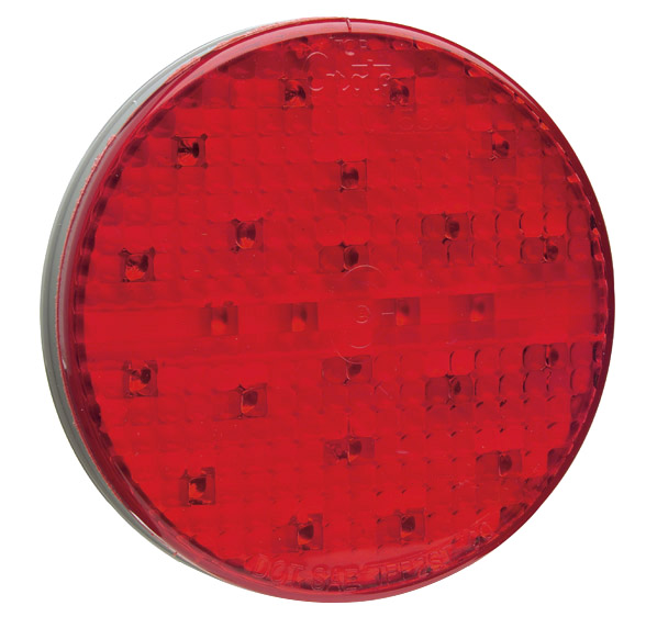 Grote Industries - 53312 – SuperNova® 4″ Full-Pattern LED Stop/Tail/Turn & Auxiliary Lamps, Grommet Mount, Red