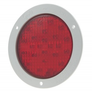 53322 – SuperNova® 4″ Full-Pattern LED Stop Tail Turn Light, White Theft-Resistant Flange, Male Pin, Red