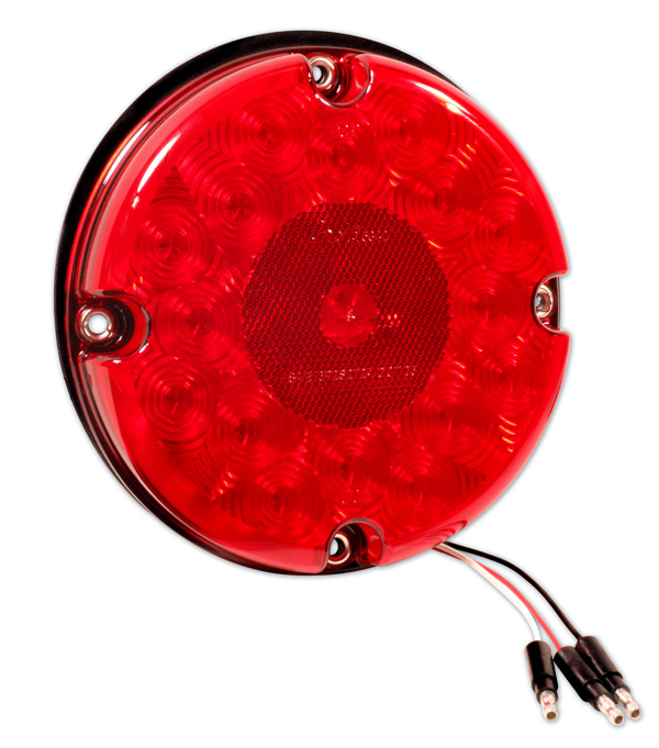 53422 – 7″ LED Stop Tail Turn Light, w/ Reflex, Red