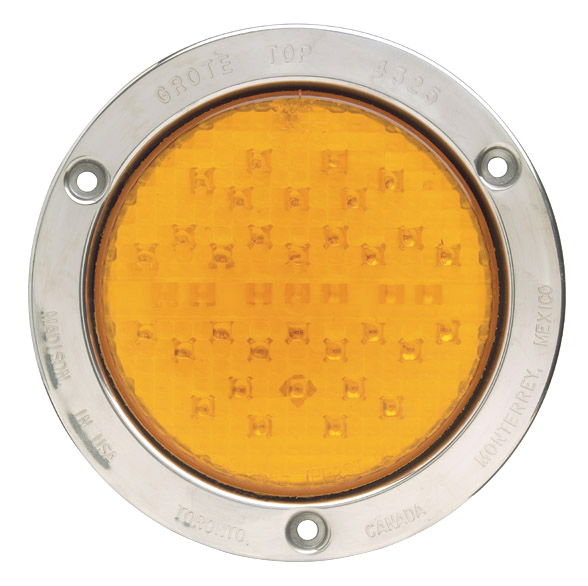 53523 – SuperNova®, Yellow w/ Stainless Steel Theft-Resistant Flange